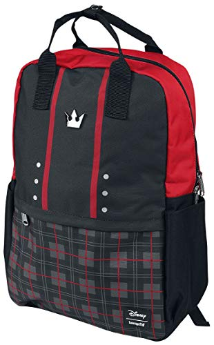 Kingdom Hearts Loungefly - Sora Square Unisex Rucksack schwarz/rot Nylon Fan-Merch, Gaming, Loungefly