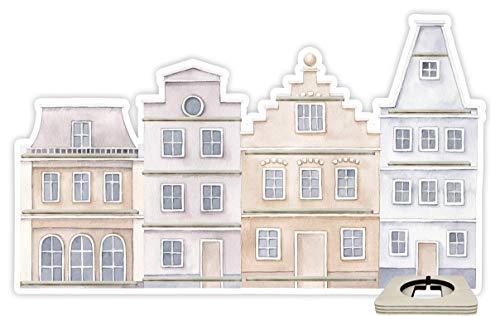 Farbklecks Collection Musikboxregal Stadthaus grau beige