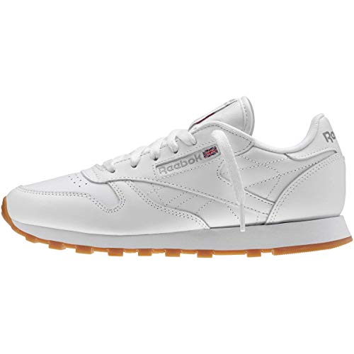 Reebok Women's W Classic Leather Sneaker, White/Gum, 8