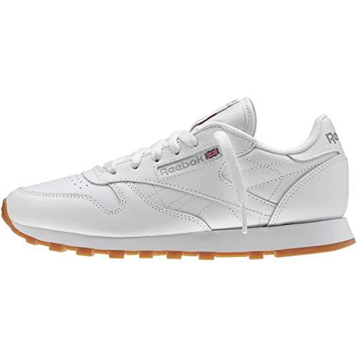 Reebok Women's W Classic Leather Sneaker, US-WHITE/GUM, 10.5