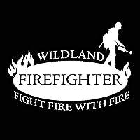ステッカー剥がし 17.5センチ* 12.5cmのファッション原野FIRE FIGHTERのFIGHT FIRE車のステッカーデカールビニール ステッカー剥がし (Color Name : Silver)