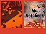 Bat Zombie Pumpkin Halloween Notebook (English Edition)