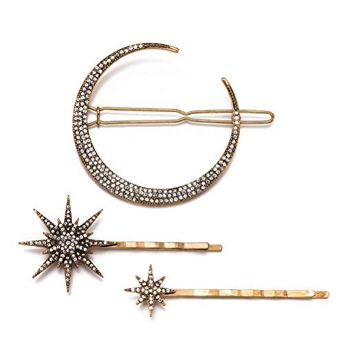 Beaupretty Horquillas para El Pelo de Estrellas Y 6 Horquillas para El Pelo de Estrella de de Copo de Nieve de Diamantes de Imitación Pasadores para El Cabello de Novia Vintage