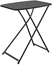 Cosco Multi-Purpose, Adjustable Height Personal Folding Activity Table, 1-Pack, Black
