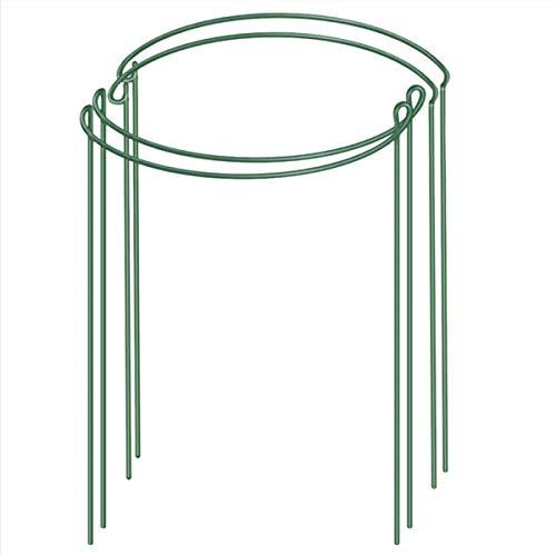 NaisiCore Pflanzenstütze Stake, 4pcs Metallgarten-Pflanzenstützen, Grün Halbrund Gartenpflanze Stützring Käfige für Tomate, Rosen, Hortensie, Blumen-Rebe (45 * 30cm)