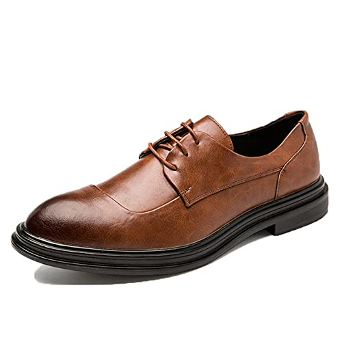 Zapatos de Negocios para Hombre, Zapatos de Cuero con Cordones, de Corte...