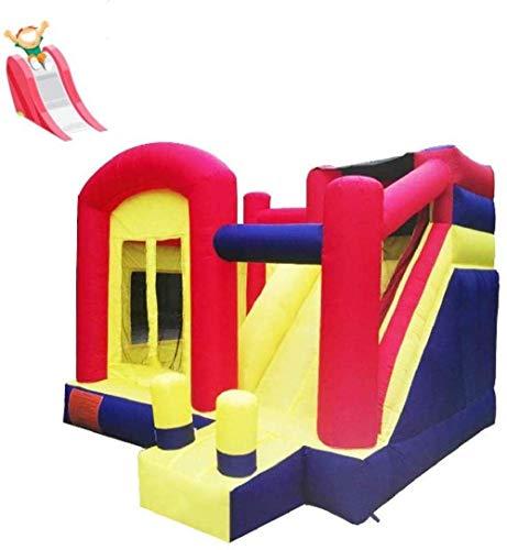 FGVDJ Castillo Inflable para niños, Castillo Inflable y tobogán para niños Familiares, tobogán Interior, trampolín casero pequeño con Red Protectora Colores 400 * 360