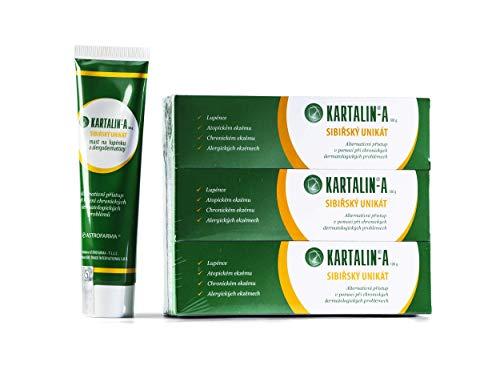 Kartalin-A Creme Ekzem und Creme Psoriasis-prophylaktische Hautcreme, Schuppenflechte, Psoriasis, Ekzem, Set 3x100 ml
