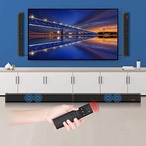 ALLWIN Barra De Sonido TV, Barra De Sonido Separable De 37 Pulgadas con Cable Wireless Bluetooth TV Altavoces V5.0 + EDR Dual Stereo AUX/Conexión Óptica USB con 4 Altavoces De Controlador