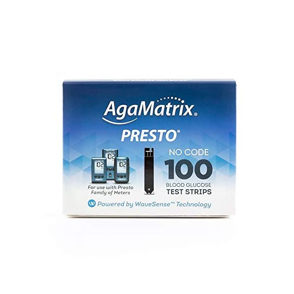 buy AgaMatrix Presto Test Strips, 100 Count Box Blood Glucose Monitors