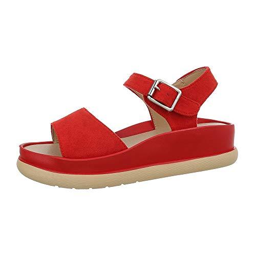Ital-Design Damesschoenen Sandalen met plateauzool