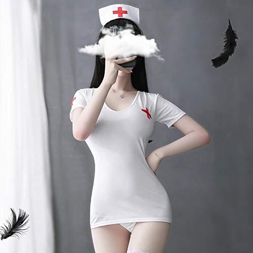 YINSHENG Ropa Interior de Mujer Teddy Tights Liguero Liguero Conjunto de Ropa Interior Enfermera Cosplay Disfraz Sexo lsbico Uniforme Caliente Disfraz Halloween Cosplay Show en Vivo para