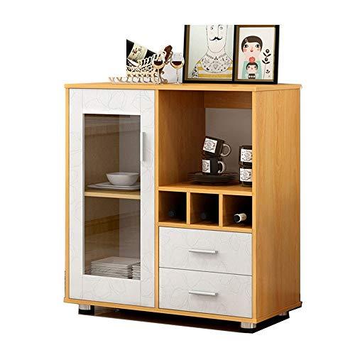Muebles Modernos Almacenamiento de cocina comedor Aparador buffet Gabinete de servidor Armario, con patas de almacenamiento en el pecho con Open Shelf Aparador ( Color : Wood , Size : 80x39.5x88cm )