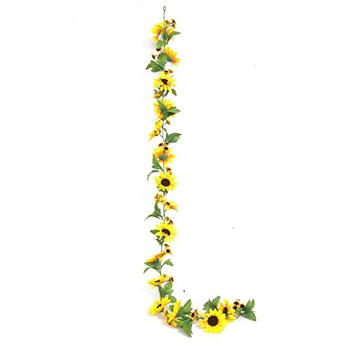 Everflag Sonnenblumengirlande aus Kunststoff
