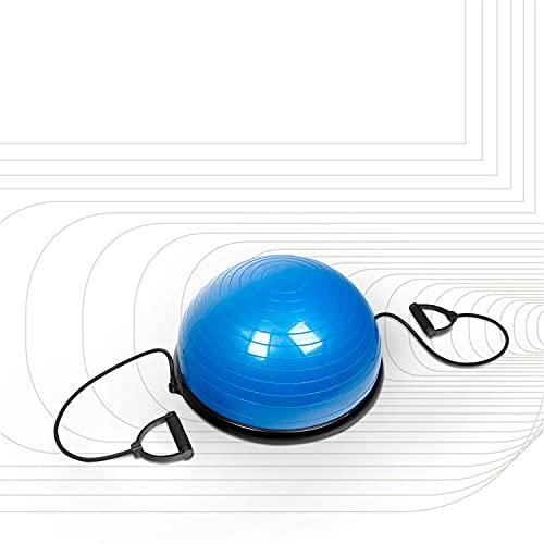SportPlus SP-GB-001 Semiesfera de Equilibrio con Correas de Resistencia – Balance Trainer...