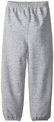 Hanes Big Boys' Eco Smart Fleece Pant, Light Steel, Large