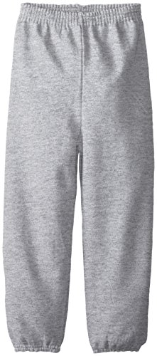 Hanes Big Boys' Eco Smart Fleece Pant, Light Steel, Small