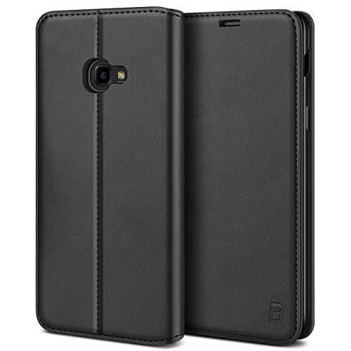 BEZ Handyhülle für Xcover 4 Hülle, Xcover 4S Hülle Premium Tasche Kompatibel für Samsung Xcover 4 4S, Tasche Hülle Schutzhüllen aus Klappetui mit Kreditkartenhaltern, Ständer, Magnetverschluss, Schwarz