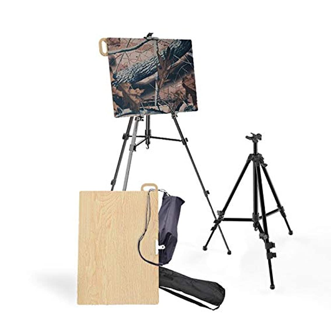 Yiwulood Artist Easel Display Stand with Foldable Wooden Artboard(16 x 22)Tripod Display Easel 21