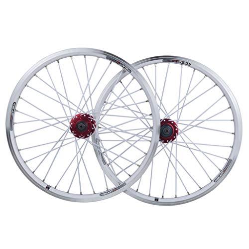 MZPWJD Juego Ruedas Bicicleta Rueda Bicicleta BMX 20 Pulgadas Llanta Aleación Doble...