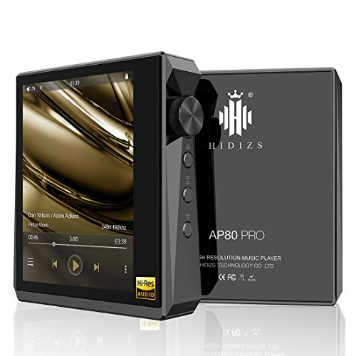 HIDIZS AP80 PRO Reproductor de MP3 con Bluetooth, alta resolución con radio LDAC   aptX   FLAC   FM, reproductor de audio digital con pantalla táctil completa (negro)