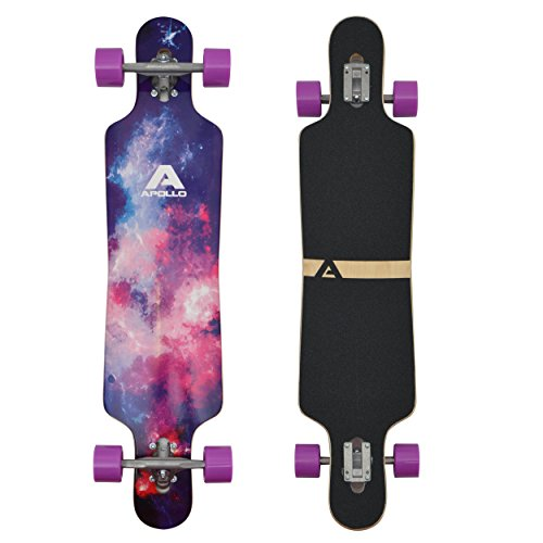 Apollo Longboard Supernova Special Edition Komplettboard mit High Speed ABEC Kugellagern, Drop Through Freeride Skaten Cruiser Boards