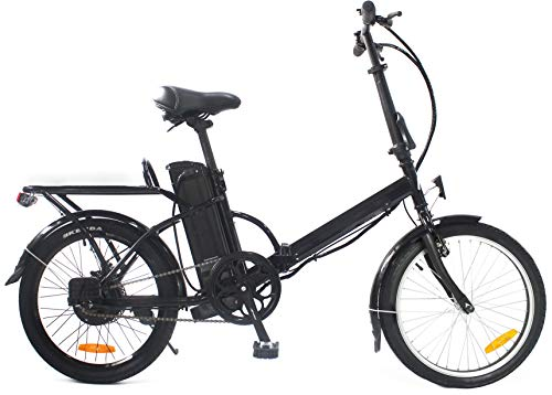 "i-Bike, BRERA 20"" Unisex adulto, nero, unica"
