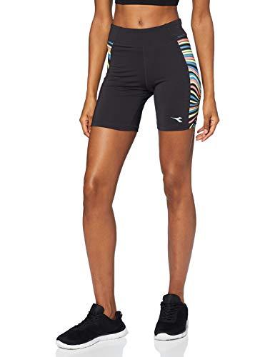 Diadora Sport 102172888 L.STC, Pantaloncini Donna, Dark Smoke/Multicolor, L
