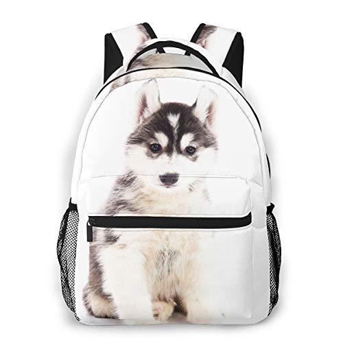 Mochila Tipo Casual Mochila Escolares Mochilas Estilo Impermeable para Viaje De Ordenador Portátil hasta 14 Pulgadas Husky Siberiano 8