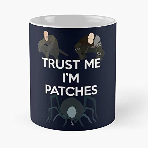 Patches Demons Souls Dark Bloodborne Trust Me - Bestes 11 Unze-Keramik-Kaffeetasse Geschenk
