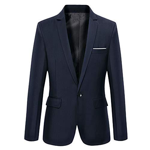 Chaqueta Casual para Hombre Chaquetas de Traje Slim Fit Blazer de un Solo Pecho Chaqueta Formal Negocios Boda Ocio Esmoquin un Botón