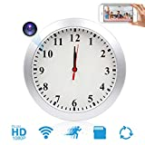 Wall Clock Camera JLRKENG HD 1080P Mini Camera Wireless Baby Pet Monitor with Motion Detection Alarm, Remote View Nanny Cam for Home and Office Security