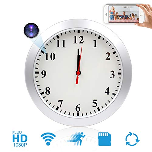 Wall Clock Camera JLRKENG HD 1080P Mini Camera Wireless...