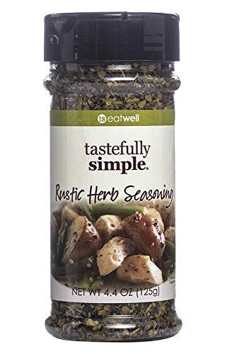 Tastefully Simple Rustic Herb Seasoning - Perfect on Roast Chicken, Turkey, Grilled Pork, Wild Game, Beef - 4.4 oz