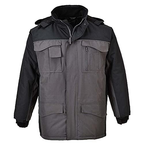 Portwest S562 – RS Parka bicouleur, 1 pièce, XXL, noir/gris