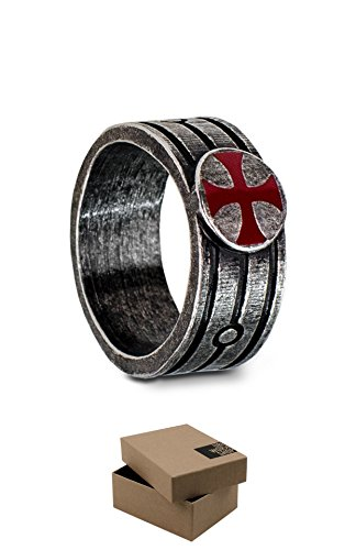Assassin's Creed Templar Ring Official Ubisoft Collection by Ubi Workshop (Large, Silver)