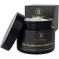 GANADOR 2020* Crema Facial de Acido Hialuronico Puro ORGÁNICA 50 ml - Crema Antiarrugas para Mujer con Aloe Vera y Vitamina E - Usar con un Serum Facial - Cremas Faciales para Contorno de Ojos