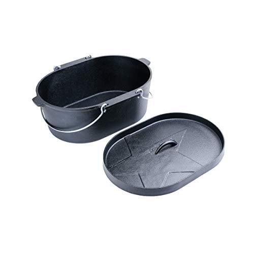 Santos ovale in ghisa con manico–41x 30cm–vibrazione Form, Baking Pot, Back pentola, Dutch Oven pentola, casseruola in ghisa