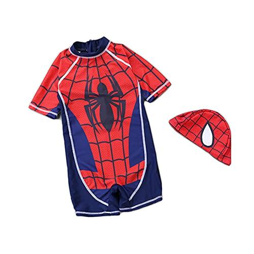 MIANslippers Spiderman Avengers Costume da Bagno Vacanze estive Vacanze da Bagno Vacanze per Bambini Vacanze Costumi da Bagno Vacanze al Mare,Red-2XL