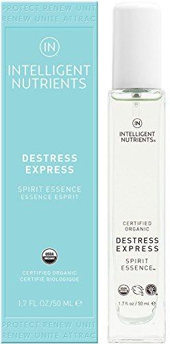 Intelligent Nutrients Destress Express Spirit Essence - Organic Essential Oil Blend Mist (1.7 oz)