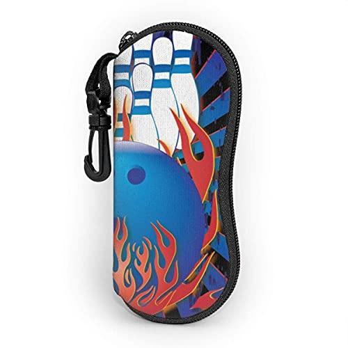 shopee-t Bowling Ball Bowling Pins Bowler Sonnenbrillen-Tasche Ultra Light Portable Neoprene Brillenetui