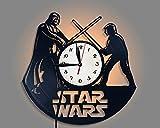 LittleNUM Disco de Vinilo Reloj de Pared Creativo Reloj de Pared de decoración del hogar Star Wars Reloj de Pared del...