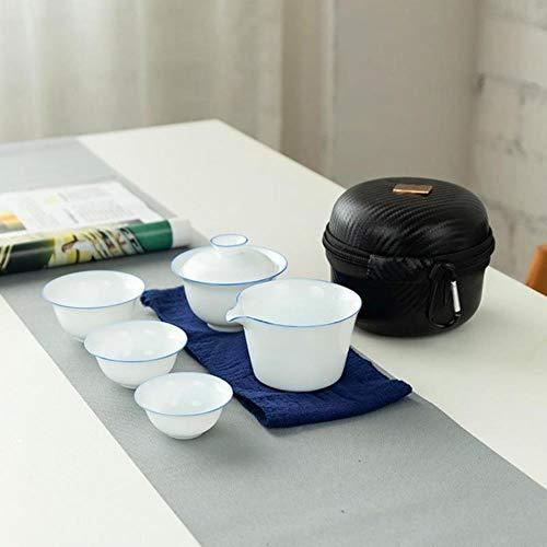 TOSISZ porseleinen theesets reis home office mokken container met zak Japanse king fu thee set één pot twee kopjes draagbare theepot theekop
