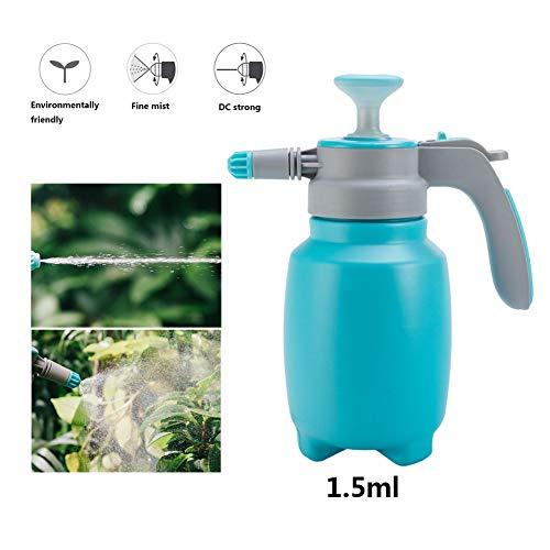 XYQCPJ 1.5L Leere Vakuum-Plastikflasche,Auslaufsicher Umweltfreundlich hoher Druck Einstellbare Düse Desinfizieren Pflanzenwasserspray zur Reinigung von Gartenprodukten