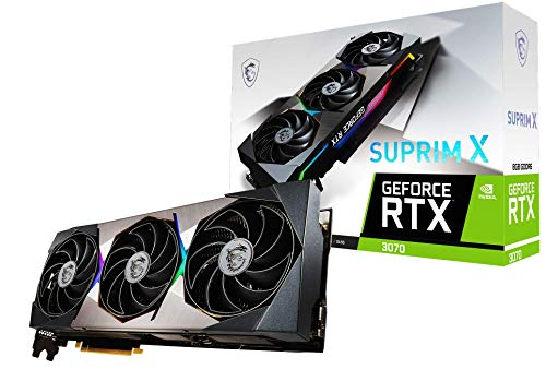 MSI GeForce RTX 3070 Suprim X 8GB GDDR6X Gaming Grafikkarte 3xDP/HDMI