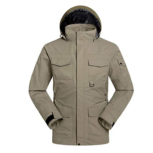 Buy Discount Men Winter Hooded Waterproof Jacket | Windproof Waterproof Mountain Ski Jacket Warm Sno...