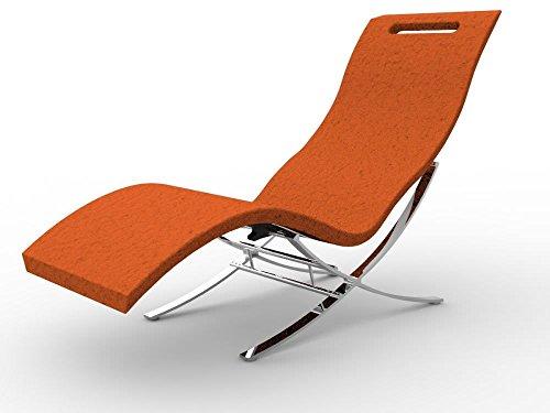 Arkema S120-2009 Chaise longue pour intérieur en polyéthylène de haute densité avec surface effet pierre Lit professionnel Résistant aux UV, au sel et au calcaire Ergonomique légère et facilement hygiénique