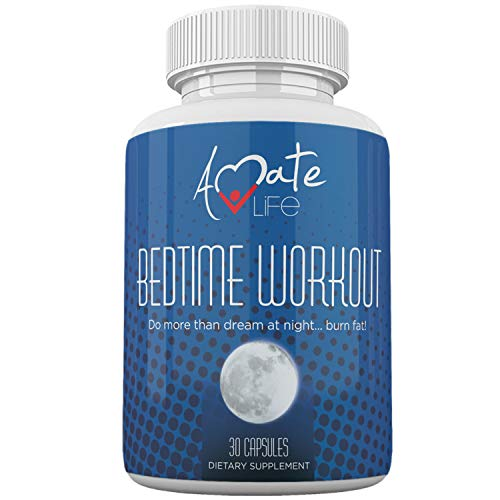 Bedtime Nocturnal Fat Burner - Nighttime Metabolism Booster- Amino Acids Source - Supports Metabolism While Sleeping - for Men & Women Made in USA by Amate Life