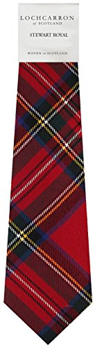I Luv Ltd Gents Neck Tie Stewart Royal Modern Tartan Lightweight Scottish Clan Tie