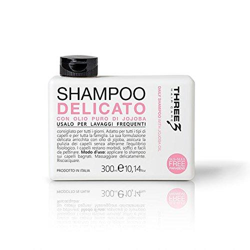 faipa Three Shampooing Délicat Huile Jojoba – Lavages fréquents no Paraben 300 ml